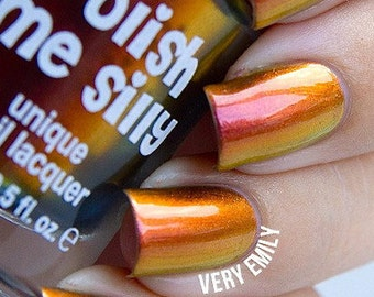 Dynamite-Mega Multichrome Multi-Color Shifting Polish:  Custom-Blended Glitter Nail Polish / Indie Lacquer / Polish Me Silly