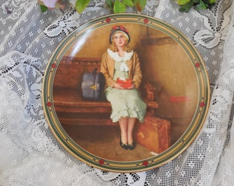 "Norman Rockwell Plate ""A Young Girl's Dream"" Limited Edition, 1st Plate in the American Dream Series"