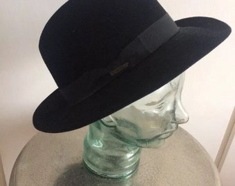 Vintage J B Stetson hat with Stetson pin badge