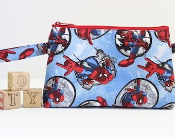 Spiderman Zipper Pouch, Pencil Pouch, Pencil Case, Travel Toy Bag, Accessory Bag, Wash Bag