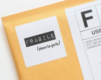 Fragile Stickers - Fragile Labels - Handle With Care - Product Packaging Stickers - Mailing Labels - Packaging Supplies - Business Stickers