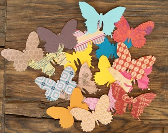 Butterfly Die Cuts, Butterflies, Patterned Paper Butterflies, Butterfly