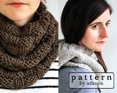 Chunky Cowl and Scarf Knitting Pattern Two-Pack, Digital PDF Pattern Multipack