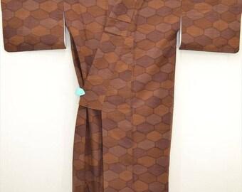 KIMONO E09a - Classic Brown Fortune Hexagon