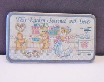 Teddy Bear Refrigerator Magnet Figi Graphics Vintage Kitchen Home Decor