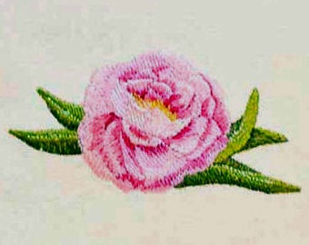 Peony Tea Towel | Embroidered Towel | Embroidered Kitchen Towel | Embroidered Tea Towel | Personalized Kitchen Towel | Flower Gift |