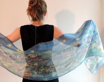 Sacred Heart - Long Silk Scarf (16
