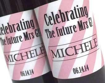 Celebrating the Future MRS Mini Wine or Champagne Bottle Labels, For Bridal Shower Favor, Wedding Favor or Bachelorette Gift