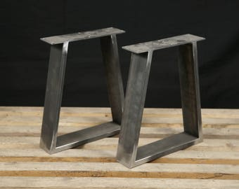 Steel Bench Legs, Coffee Table Legs, Metal Legs, Square Bench Base, Coffee