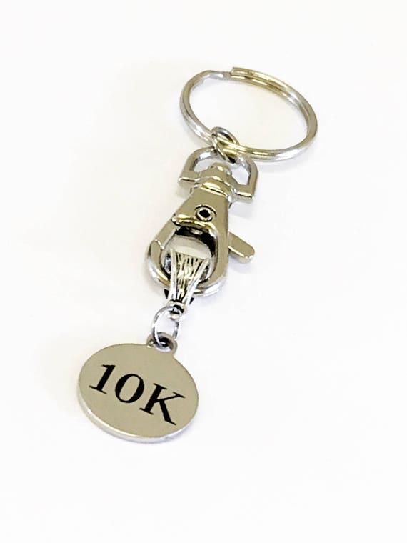 Runner Gifts, 10K Race Keychain, Race Awards, Runner Awards, 10K Gifts, Runner Keychain, Running Gift For Her, Runner Valentine Gift For Him