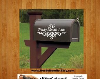 Personalized Mailbox Decal, Custom Mailbox Decal, Address Decal, Mailbox Decal, Mailbox Numbers, Mailbox Monogram, Mailbox Stickers