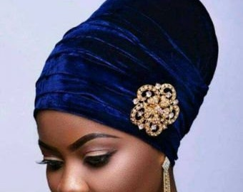New Pleated Velvet Turban Hat/Cap, Hijab Head Cap. One size fits all.