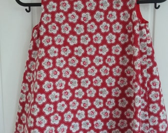 Red Rose Girls Pinafore Dress Age 2 years