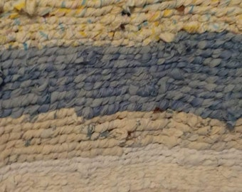 Handwoven Rag Rug in Pastel