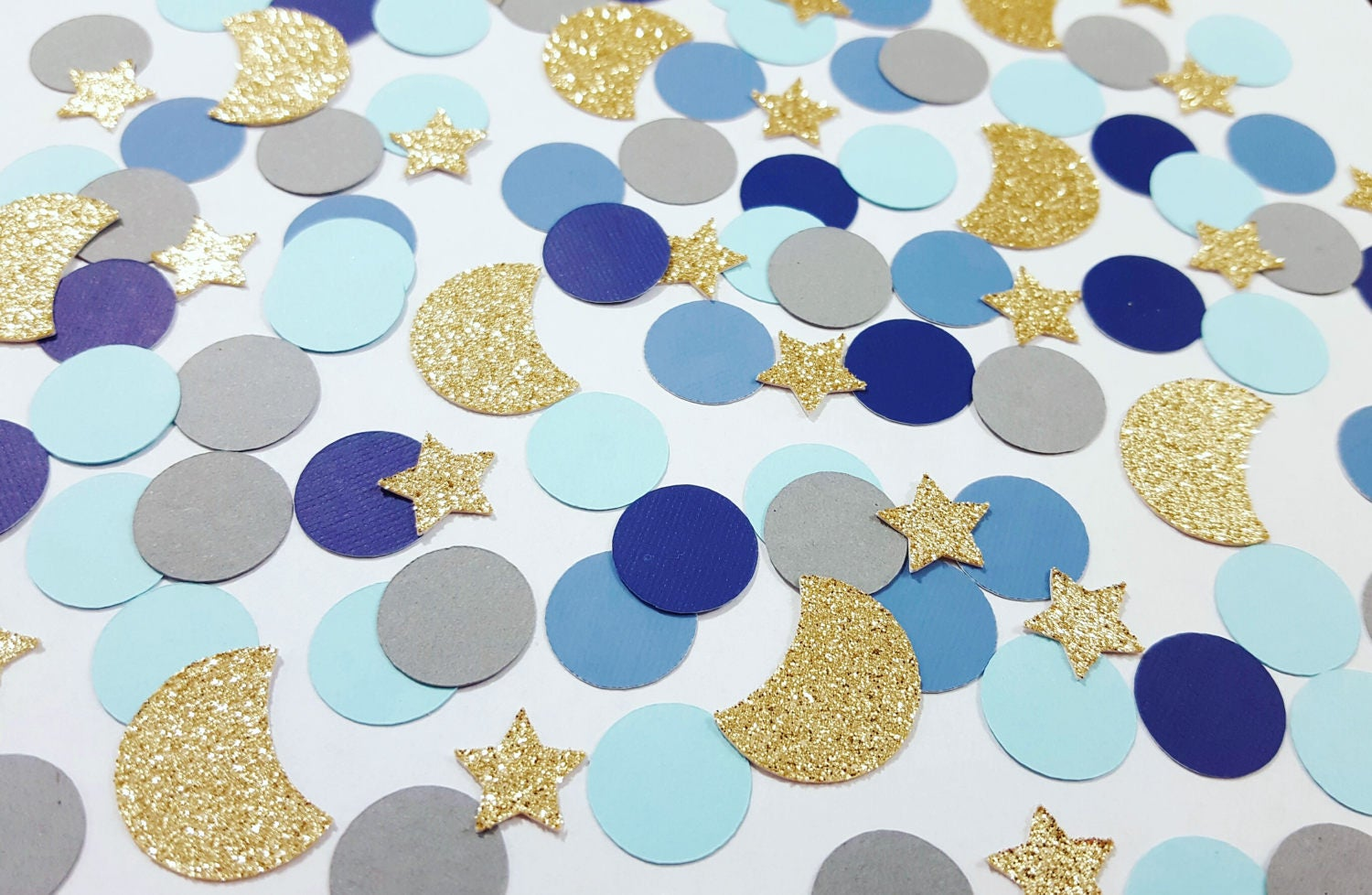 Starry Night Confetti Moons And Stars Bridal Shower Decor