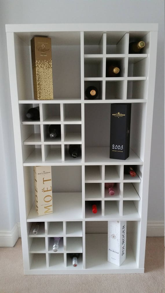 Wine Rack Insert For Ikea Kallax Expedit Storage Unit Bottle Holder Hack White