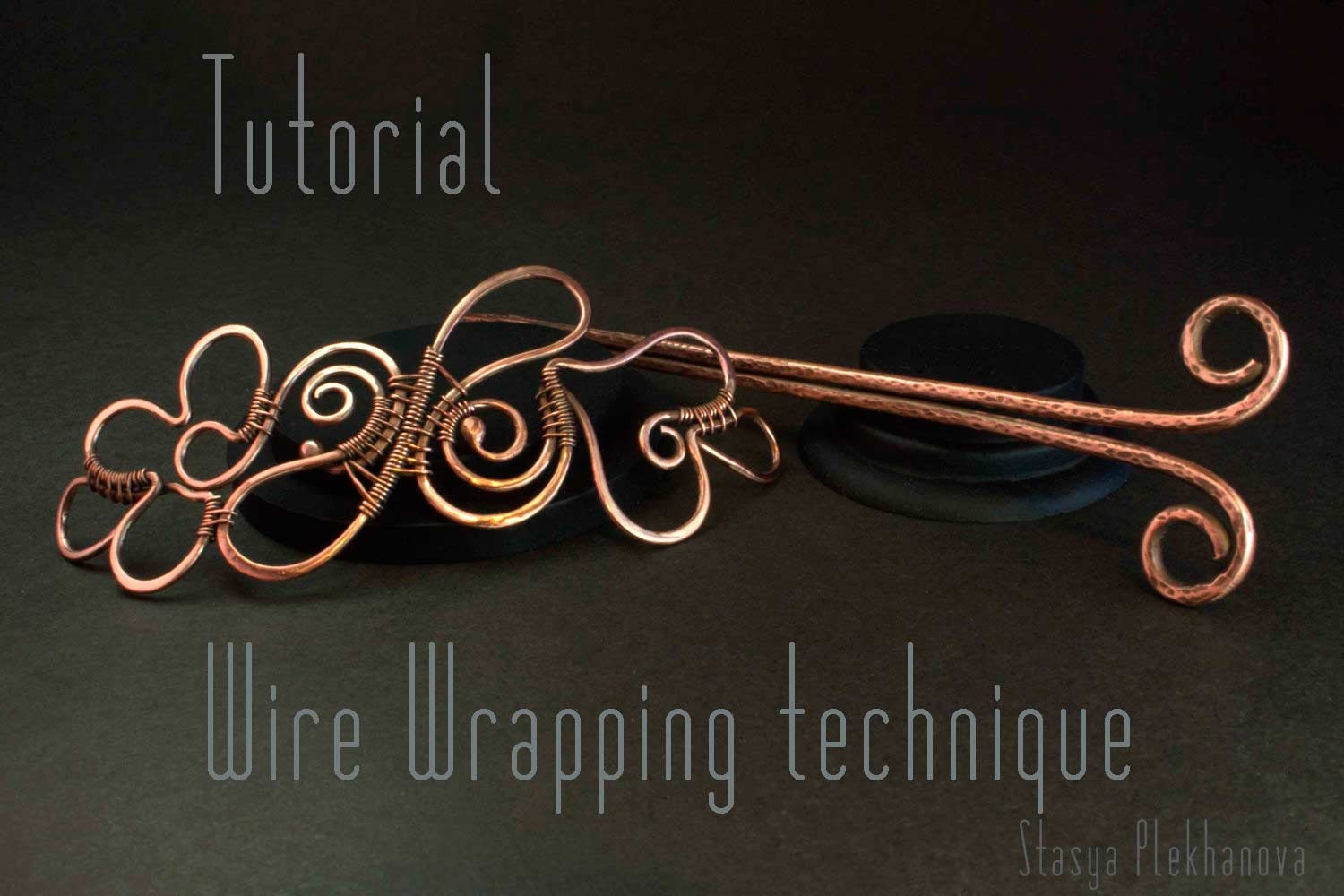 Wire Wrap Tutorial Hair Slide tutorial Wire Wrapped hair
