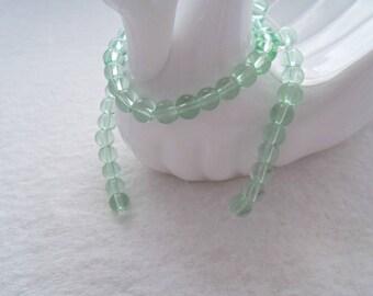 Strand of 6 mm Glass Beads - Light Seafoam (1395)