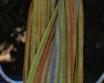 Handwoven Silk and Tencel Scarf - reduced