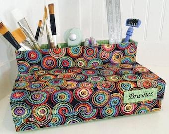 Paint Brush Case, Tool Organizer, Makeup Brush Organizer, Pencil Holder, Office Organizer, Craft Room Organizer, sew supplies storage