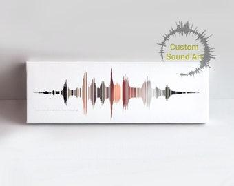 Stripe Sound Wave Art, Striped Wall Art, Soundwave Art Print, Custom Sound Wave, Voice Art, Voice Print, Voice Recording, Timbre Ebb