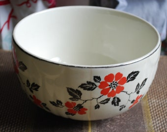 """Small Hall Red Poppy 6"""" Bowl"""
