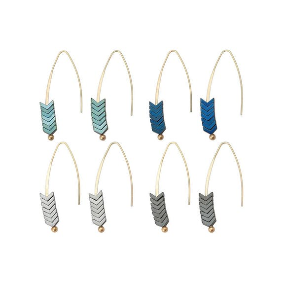 Chevron Stacked Earring