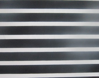 Black & White Stripe Print Jersey Knit Fabric by the Yard Black/White Stripe Knit Fabric Apparel Fabric Fused Back Rayon Spandex