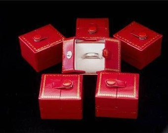 Red Snap Ring Gift Boxes 6 QTY  SALE