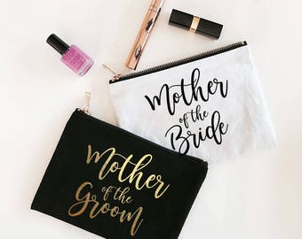 Mother of the Bride Gift Bag - Mother of the Bride Makeup Bag - Mother of the Groom Cosmetic Bag (EB3222BP)