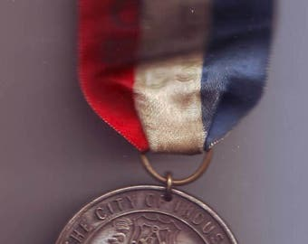 Souvenir of The City of Industry Lewiston PA. With Tricolor Ribbon