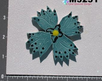 Flower - Kiln Fired Handmade Ceramic Mosaic Tiles M3251