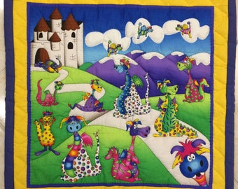 Lovely Dinosaur Wall Panels (Fabric)
