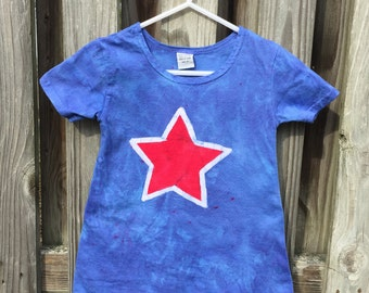 Girls Fourth of July Dress, July 4th Dress, Patriotic Girls Dress, Kids Patriotic Dress, Red Star Dress, Red White and Blue Dress