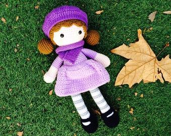 Baby Girl, Crochet Doll, Rag Doll, Aria Handmade doll, Bedtime Doll, Girl Lalylala, Amigurumi doll, Crochet Doll, Cuddly Doll