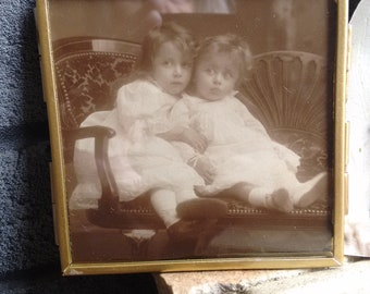 Vintage sepia Photograph in frame