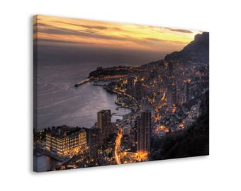 Montecarlo - Framed Urban Wall Art Canvas Print // 6 Sizes - medium to large // High Quality // Fast & Free shipping to EU