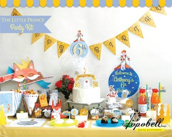 The Little Prince Party Kit Printables. Complete Set The Little Prince Birthday Party. DIY The Little Prince Baby Shower Printables. DIGITAL