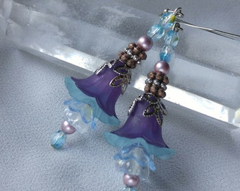 Evening Lilies - Flower Earrings