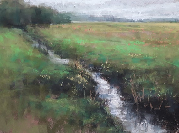 Deerfield Creek - 9x12 -Pastel Painting - LIVE STREAMING DEMO