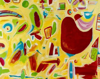 """Abstract Fine Art Giclée Print  """"Channelling Bohdi"""""""