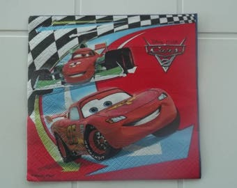 set of 2 napkins papierserviette cars and company