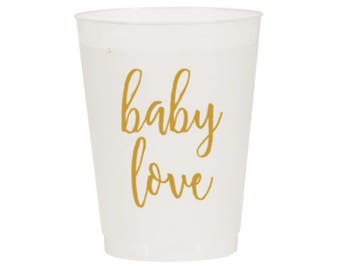 "Baby Shower Party Cups ""Baby Love"" (12)"
