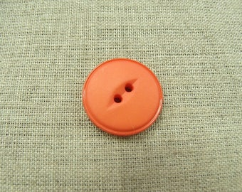 Acrylic button with 2 holes - 22 mm - light pink