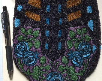 Gorgeous hand beaded purse, circa 1920's