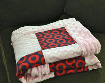 Phish Baby Blanket - Pink