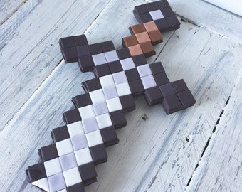 Minecraft Inspired Sword Cake Topper