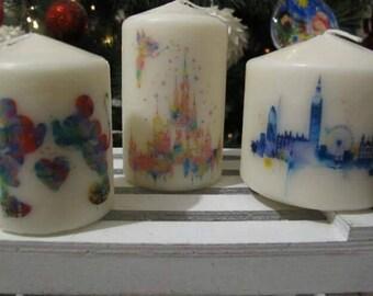Candles Drawing Watercolor