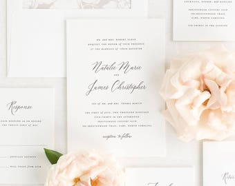 Natalie Wedding Invitation - Deposit