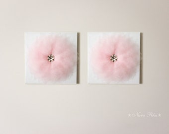 Canvas Art Set  Flower Wall Decor Nursery Art Wall Hangings Nursery Decor Wedding Decor Flower Decor 12X12 Canvas Custom Color